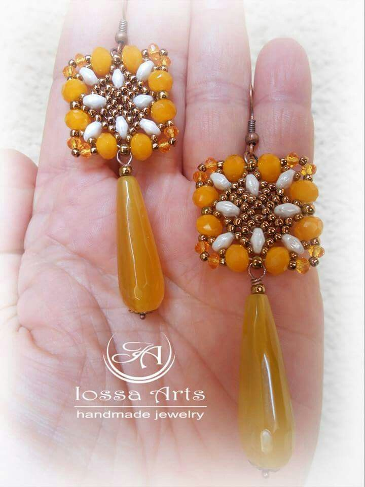 #orecchini #earrings #fattoamano #handmade #bijoux #gioiello #fashion #madeinitaly #blogger #fashionblogger #style #trend #yellow #drop