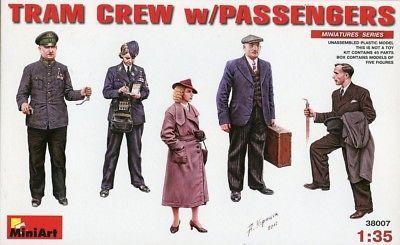 Tram Crew With Passengers 1:35 Figure Plastic Model Kit MINIART