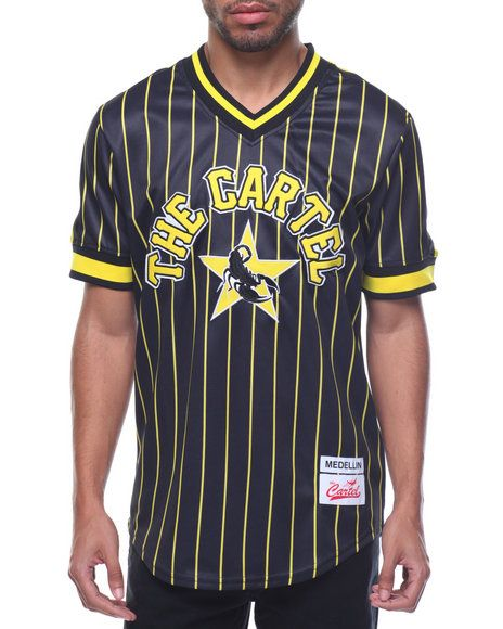 420809902 Medellin Cartel Pinstripe Baseball Jersey - that should be mine! Find this  Pin and more on Mens ...