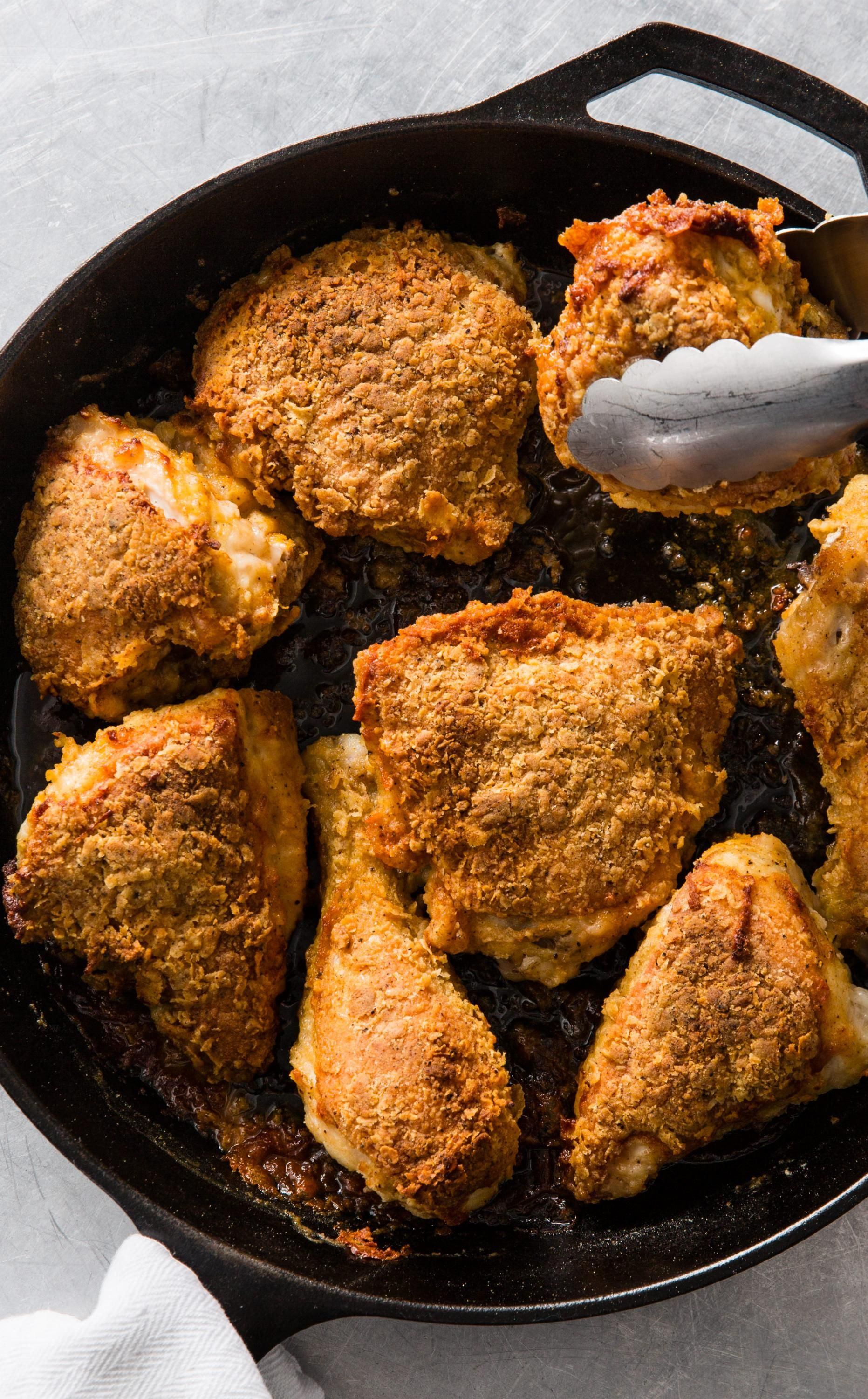 Cast Iron Oven Fried Chicken Cook S Country Recipe Cast Iron Chicken Recipes Fries In The Oven Cast Iron Recipes