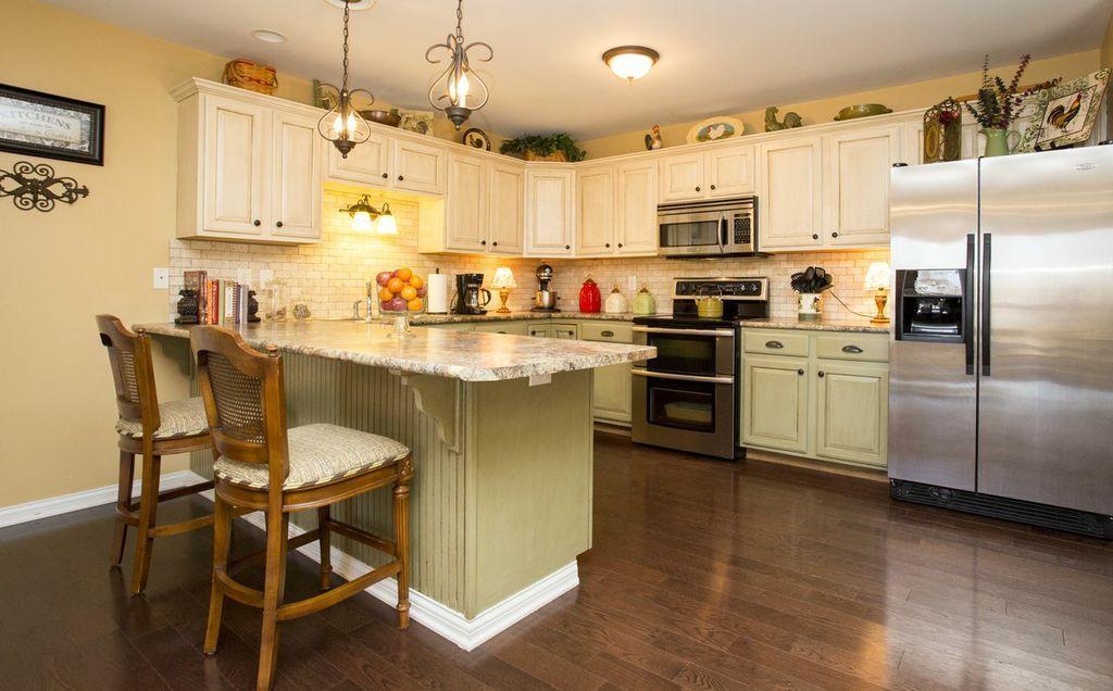 Pinterest - Builder grade oak kitchen cabinets ...