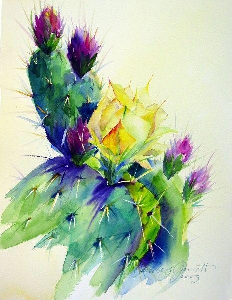 Fleurs de cactus - artiste inconnu