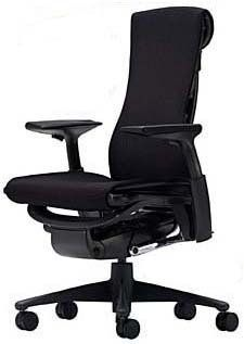 Embody Chair By Herman Miller Fully Adjustable Arms Black