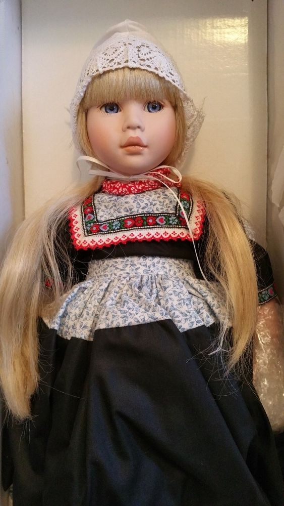 "Pauline Jacobsen Holland Dutch Doll 20"" Bonnet Wood clogs 566/950 LE blue eyes #DollswithClothingAccessories"
