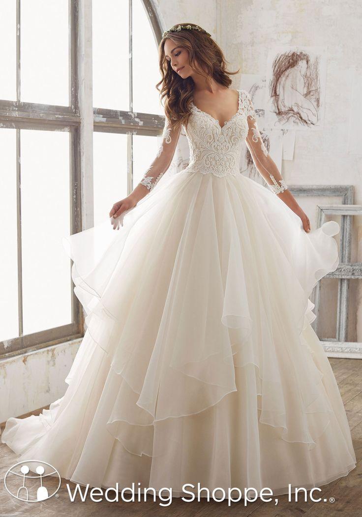 Ball Gown Wedding Dresses : Blu by Mori Lee Bridal Gown Maya / 5517 ...