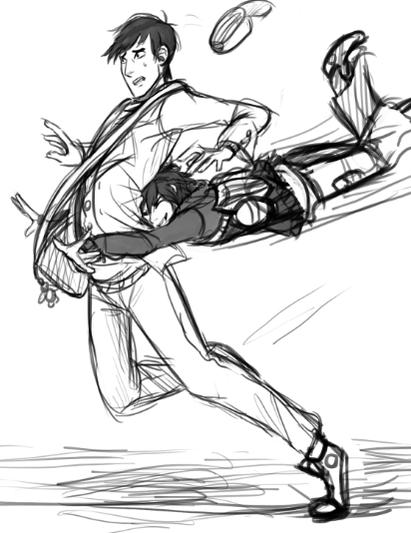 remotely smol on Anime poses, Hug pose, Big hero 6