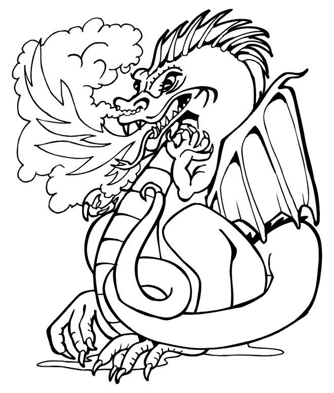 Free Printable Dragon Coloring Pages For Kids | Chinese dragon ...