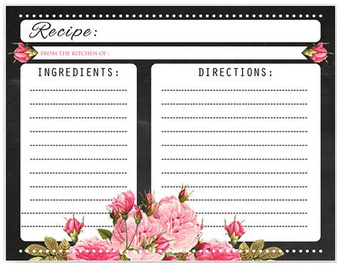 Pin de marcy braco en Printable Recipe Cards | Pinterest | Recetario ...