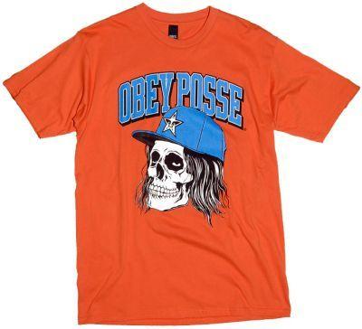 Obey Snapback Skull T-Shirt Burnt Orange  £24.95