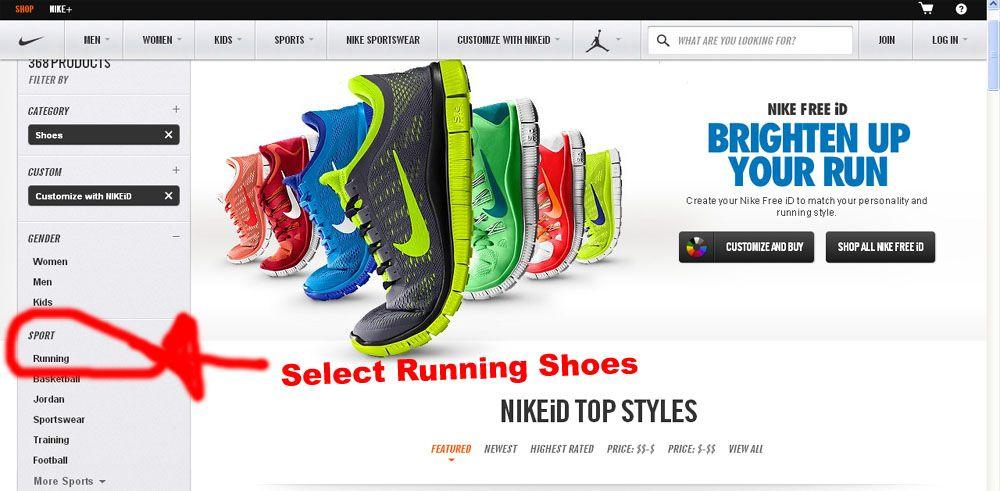 A lot of Custom NIKE Running Shoes Custom Nike Shoes Pinterest