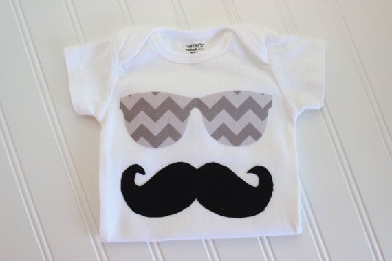 Mustache & Sunglasses Onesie - Sunglasses Onesie - Baby Boy Clothing - Boy Onesie - Boy Bodysuit on Etsy, $12.00