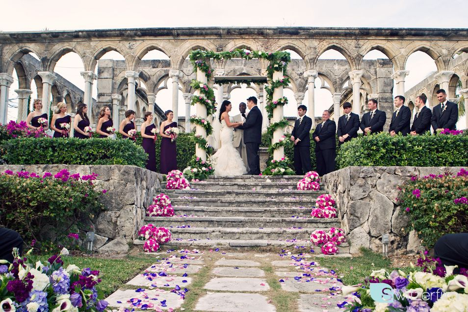 Kate and Richey in front of the authentic 12th century French cloister ruins! ~Switzerfilm