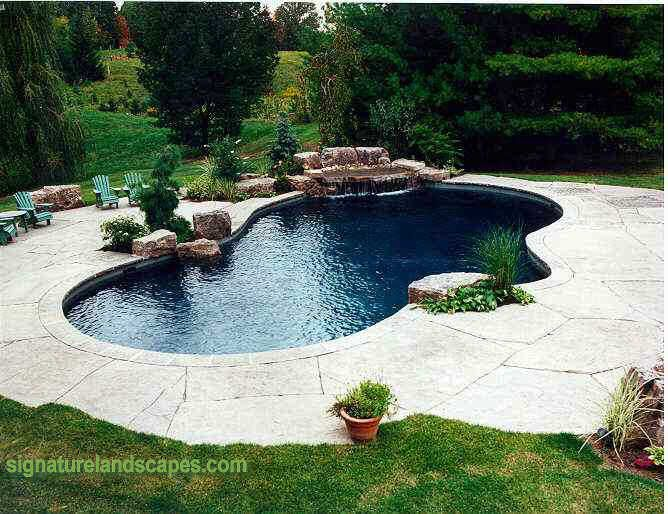 Pin By Brandy Courville On Dream House Luxury Swimming Pools Pool Waterfall Pool Landscaping