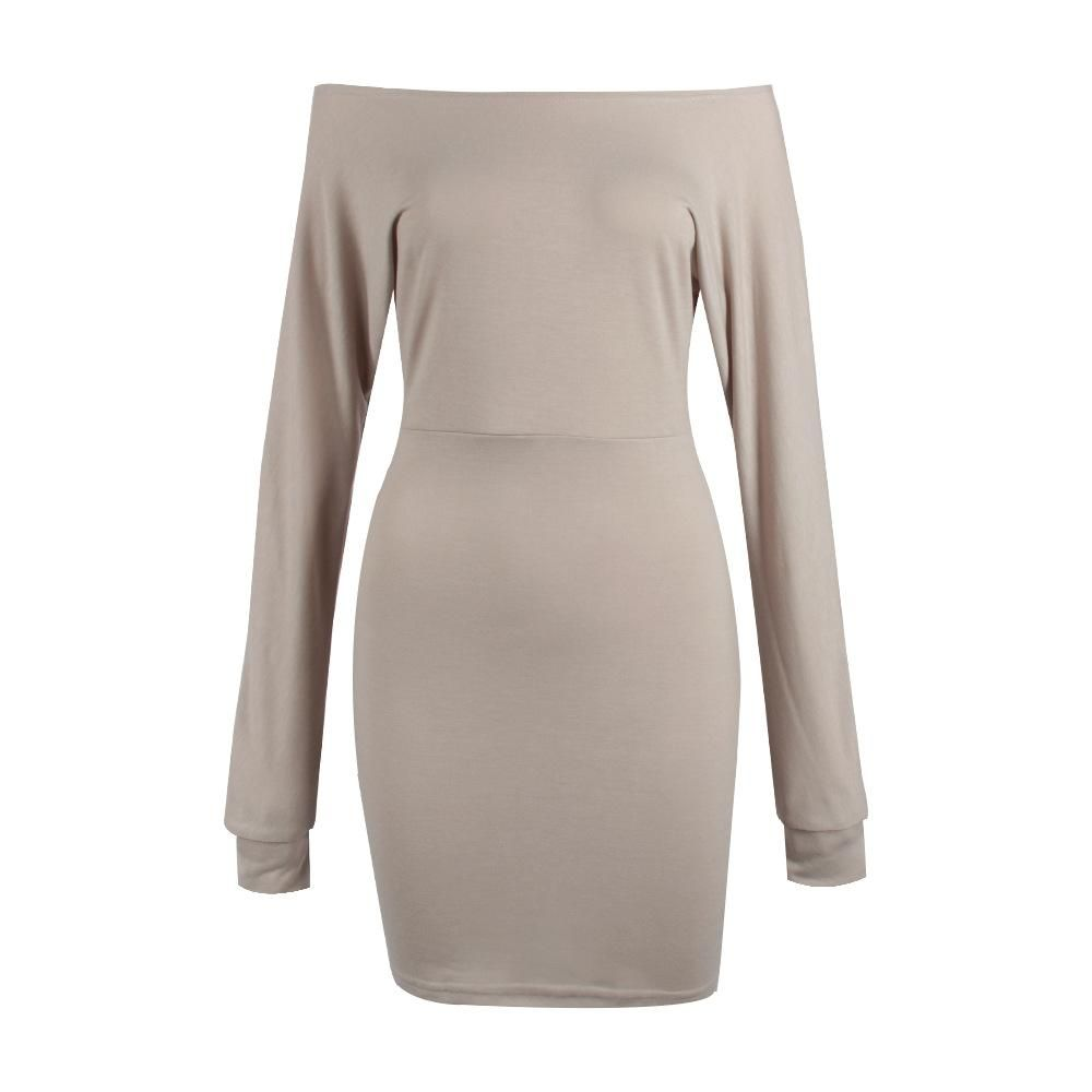 f5b425f8c456 Wholesale cheap short mini dress occasion -sexy womens ladies winter off  shoulder slim jumper sweater
