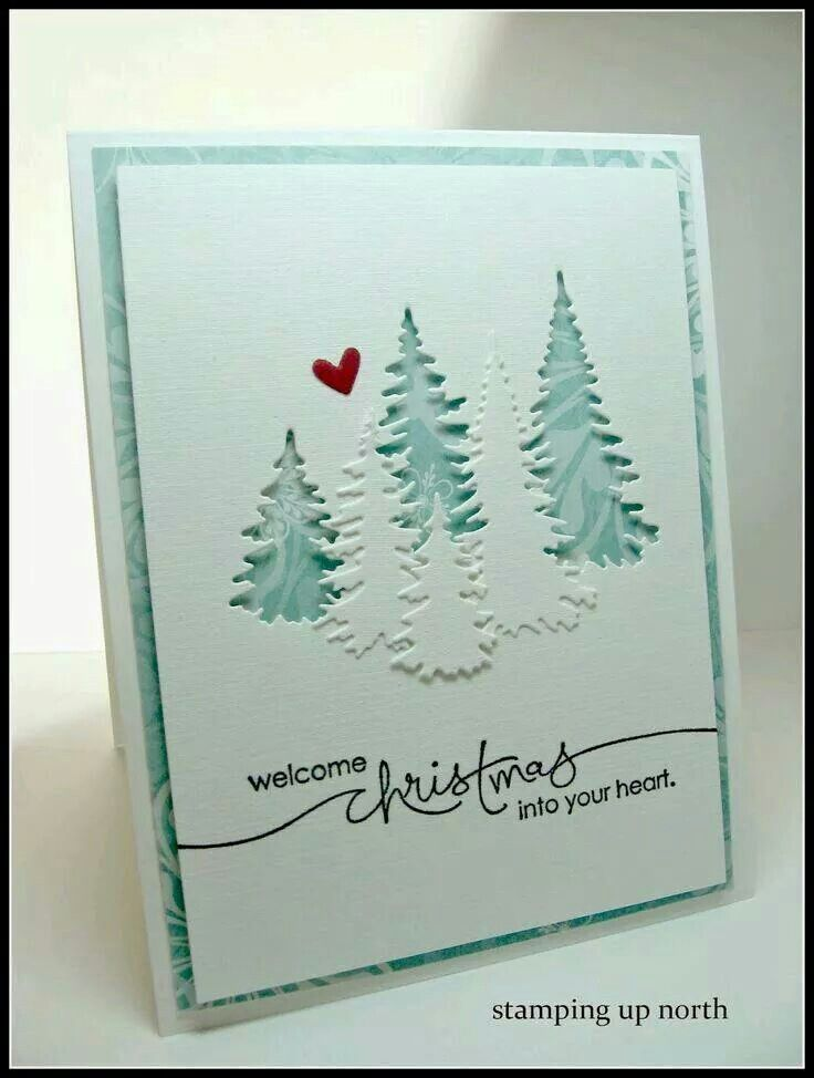 Great idea for using the positive and negative of a die cut.   Cards ...