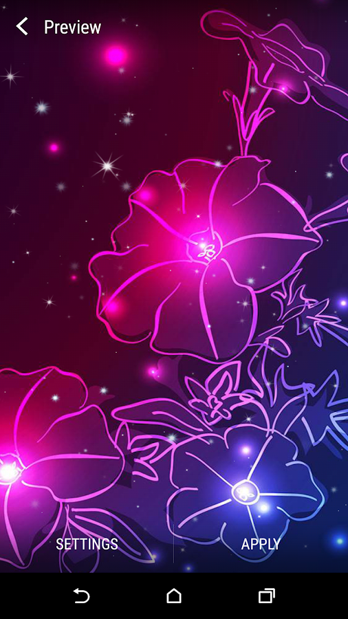 Flowers live wallpapers for Android Neon flowers, Neon