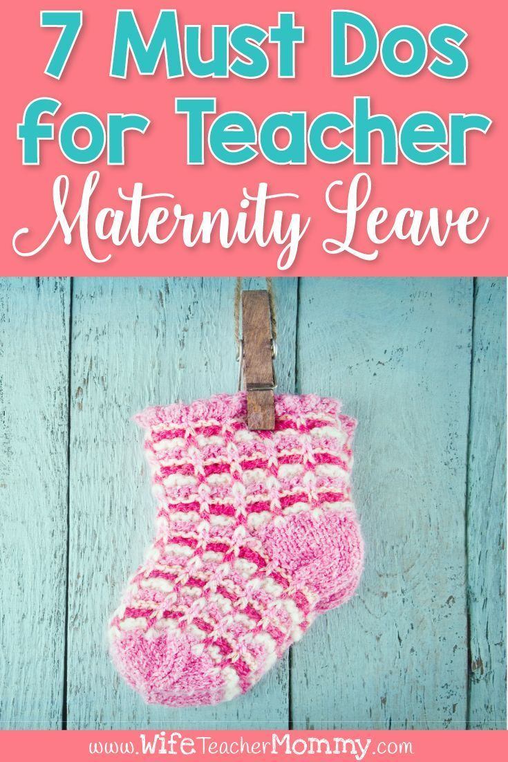 7 Must-Dos for a Successful Teacher Maternity Leave ...