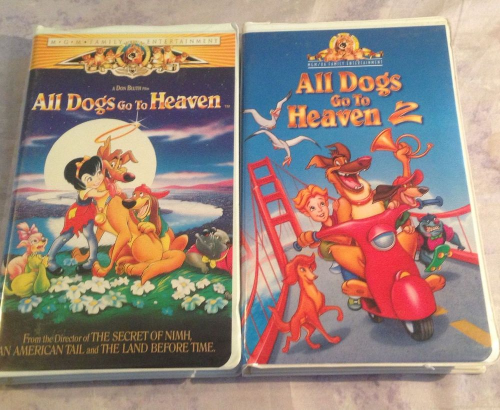 All Dogs Go To Heaven 1 2 Full Length Movies Vhs In Cases With