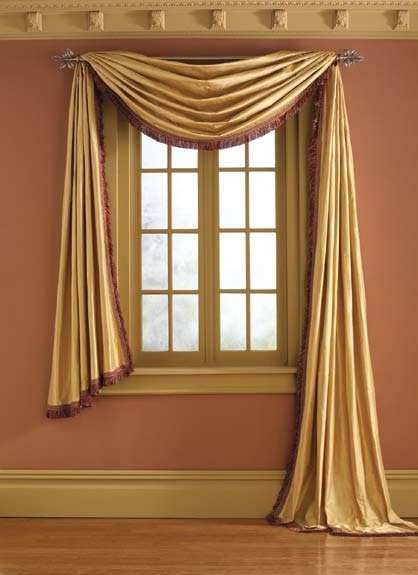 Pole Mounted Valances Self Lined Shaped Valance Crown