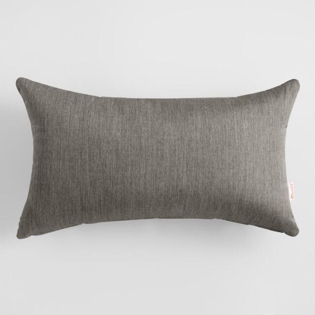 Merveilleux Sunbrella Charcoal Canvas Outdoor Patio Lumbar Pillow: Gray   Acrylic By  World Market | Canvases, Pillows And Outdoor Living