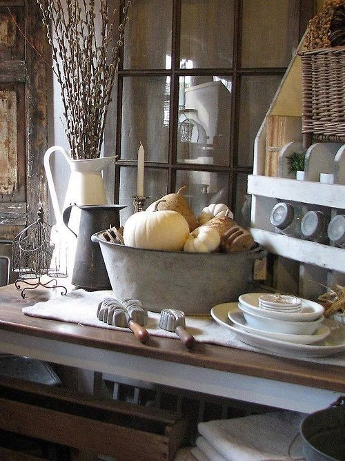 Mycountryliving Via Pin By Penelope Dobbs On Country Living Pinterest Charming Kitchen Fall Primitive Decor Autumn Home