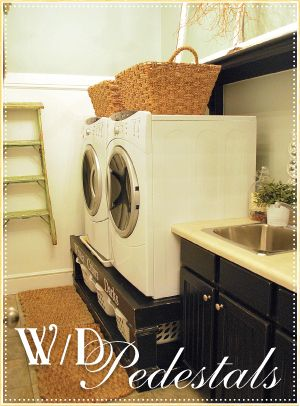 Charmant Check Out The Homemade Pedastals For The Washer And Dryer! AWESOME! Cute,  Smart And Affordable!!! LOVE!