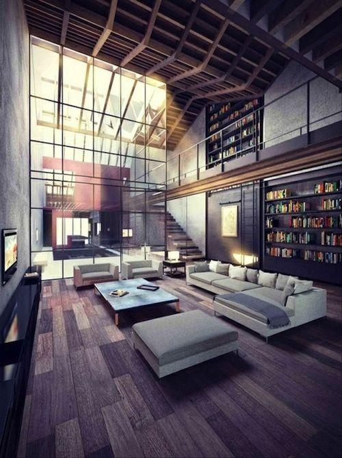 Industrial Loft Lovely living rooms Pinterest Loft industriel - logiciel plan de maison