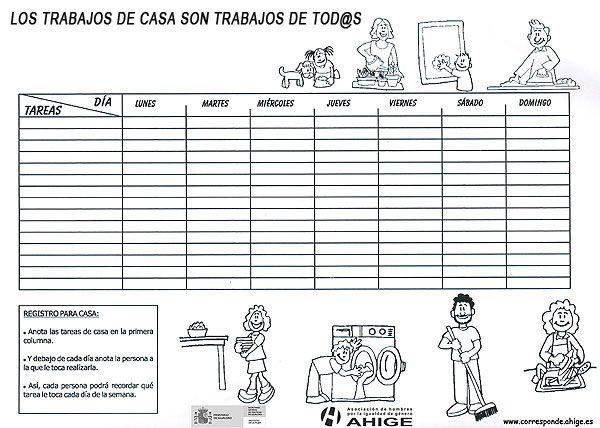 Calendario De Tareas Calendario De Tareas Limpieza Del Hogar