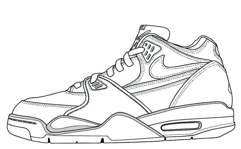 Stephen Curry Shoes Coloring Pages Design