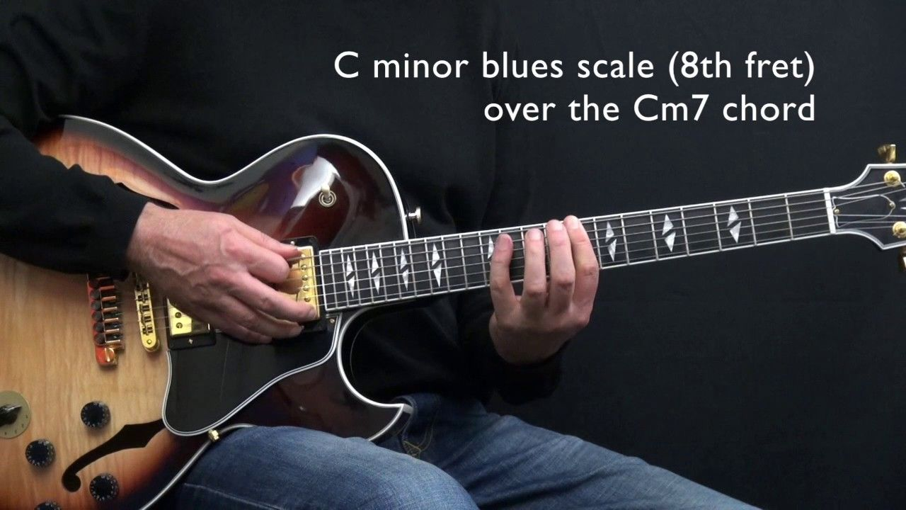 C Minor Jazz Blues Easy Jazz Guitar Lesson By Achim Kohl Guitar