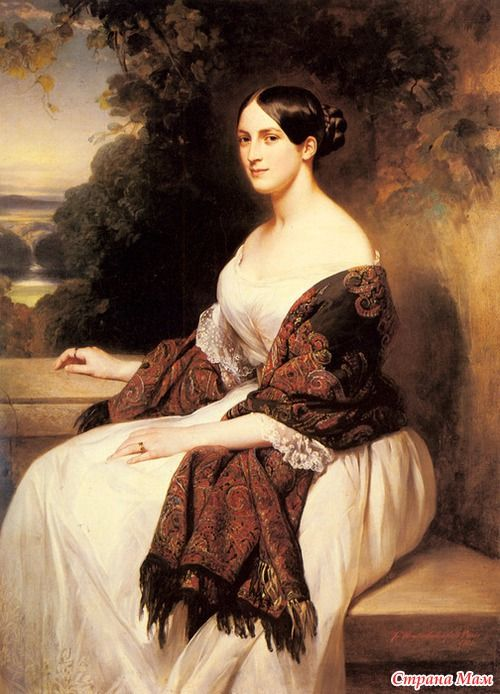 Художник Франц Ксавье Винтерхальтер.Portrait of Madame Ackerman, the wife of the Chief Finance Minister of King Louis Philippe 1838