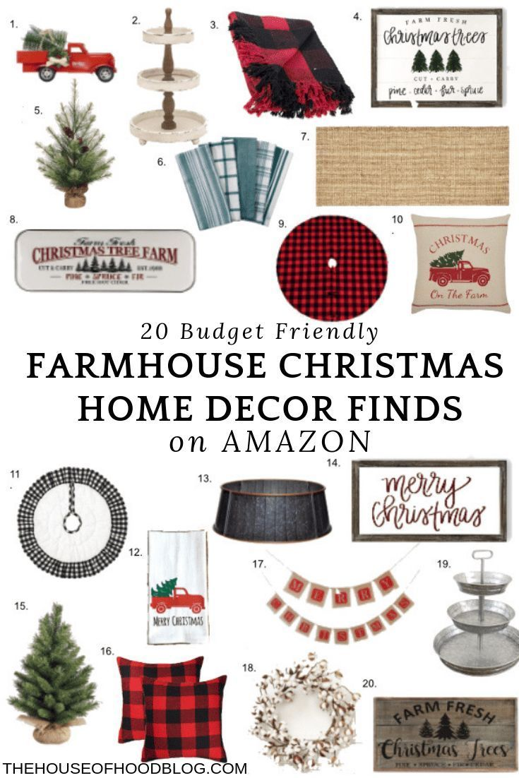 20 affordable rustic Christmas farmhouse decor finds on Amazon!  I couldn't believe the great deals I found on Amazon and had to share them with you.   #farmhousechritmas #christmasdecor #farmhousechristmasdecor #christmasdecorations #rusticchristmasdecor #budgetfriendlydecor #farmhouse #farmhousedecor #industrialfarmhouse #shiplap #homedecor #amazonfinds #rusticdecor #affordabledecor #rusticfarmhouse