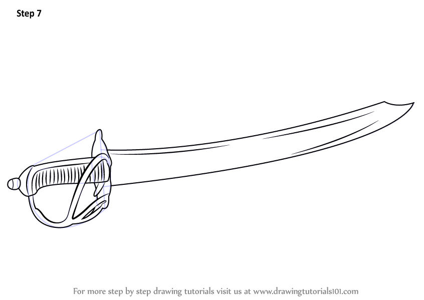 Learn How To Draw A Cutlass Swords Step By Step Drawing Tutorials Drawings Drawing Tutorial Draw