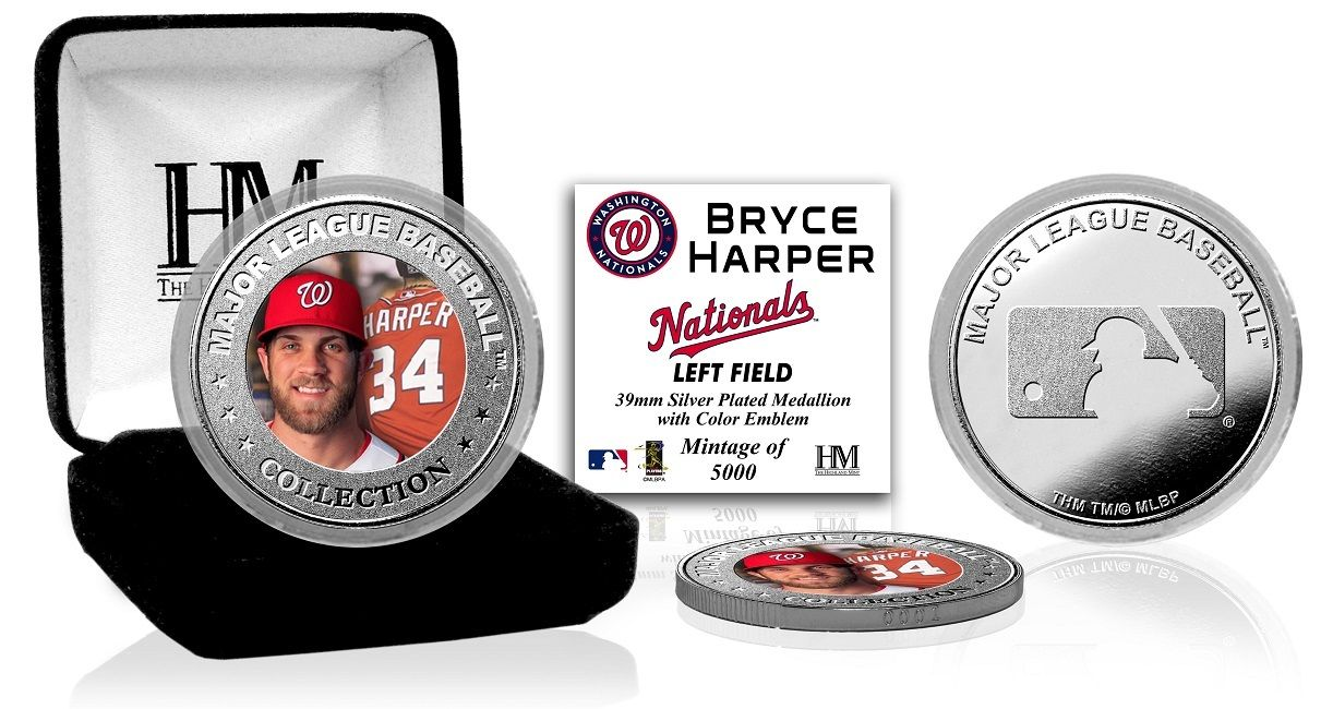 AAA Sports Memorabilia LLC - Bryce Harper Silver Color Coin, $19.99 (http://www.aaasportsmemorabilia.com/products.php?product=Bryce-Harper-Silver-Color-Coin/)