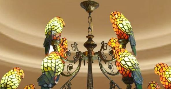 Tiffany Bird Light Large Tifffany Chandelier Lighting Item Qmgy8 4 1