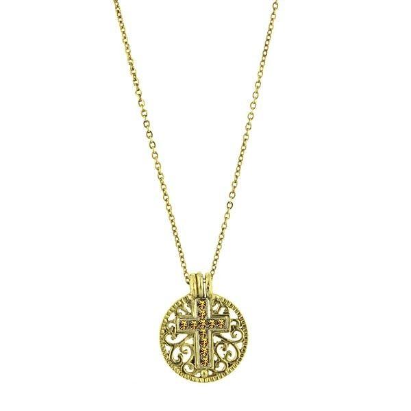 Birthstone cross pendant necklace november citrine recent birthstone cross pendant necklace november citrine aloadofball Gallery