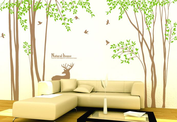 Amazing 169 Inch Large Tree Wall Decals For Nursery   Wallstickery.com