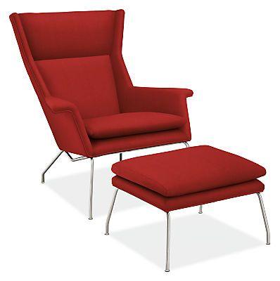 Aidan Chair Ottoman Modern Accent Lounge Chairs Modern Living Room Furniture Chair Ottoman Modern Cushions Modern Chairs