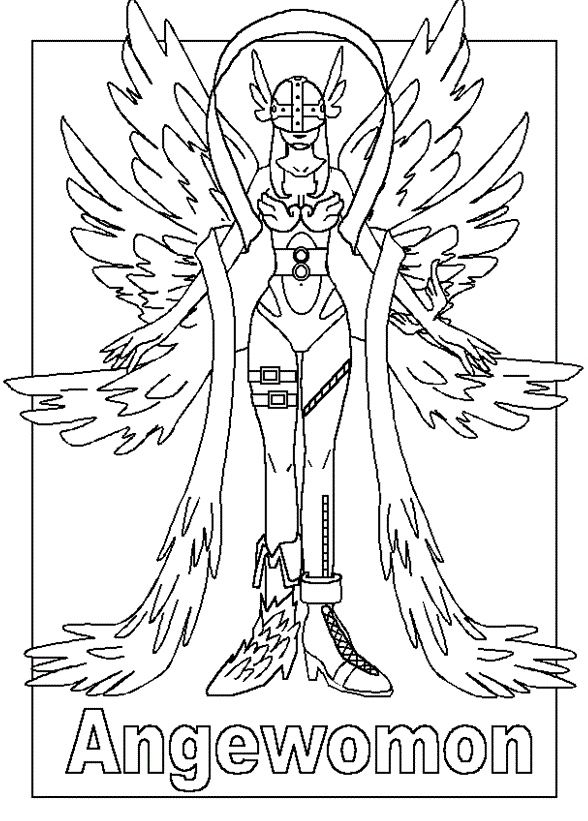new digimon coloring pages - photo#30