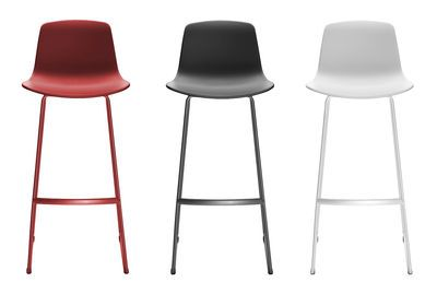 Chaise De Bar Lottus Enea Rouge Made In Design Chaise Bar Chaise De Bar Design Tabouret De Bar