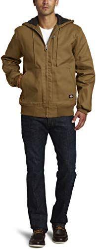 New Dickies Men S Rigid Duck Hooded Jacket Online Shopping