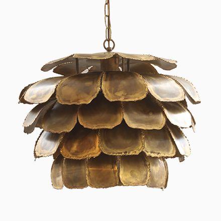 Große 6435 Deckenlampe aus Brennschnitt-Messing von Sven Aage für - deckenleuchten wohnzimmer landhausstil