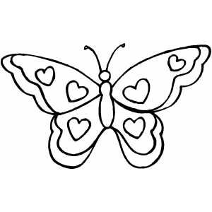 Pin By Louise Walker On Sillhouette Butterfly Coloring Page Butterfly Printable Heart Coloring Pages