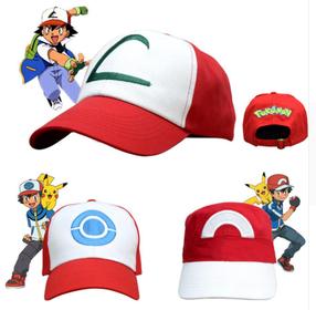 Pokemon Ash Ketchem Hat In 2020 Pokemon Cap Pokemon Hat Ash Ketchum Hat