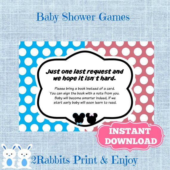 Mickey And Minnie Mouse Baby Shower Bring A By 2RabbitsPrintEnjoy