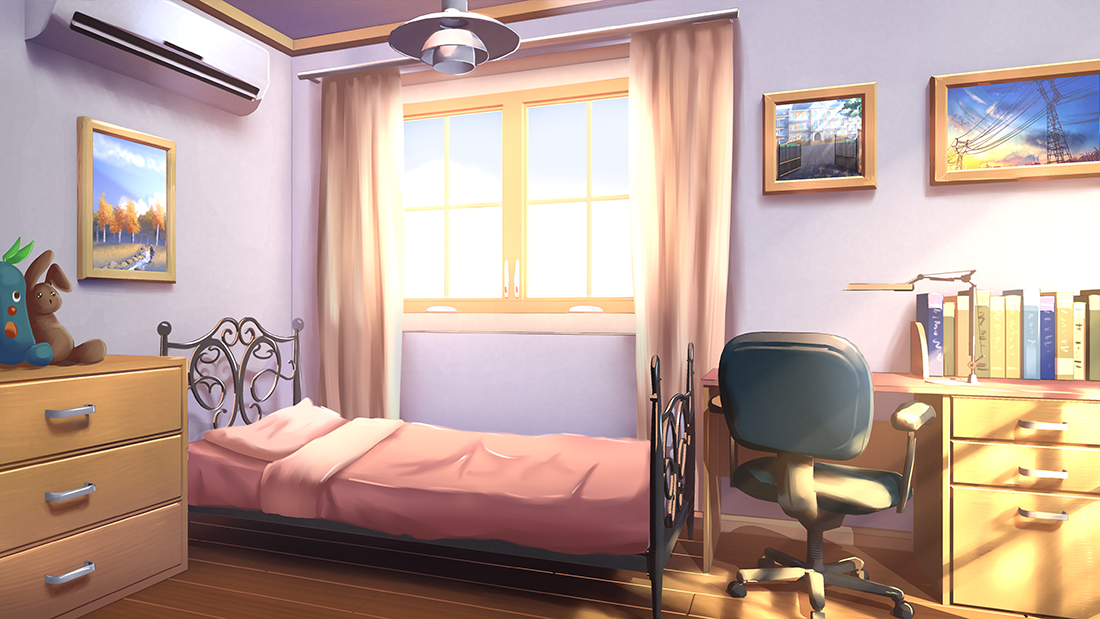 Cute Anime Bedroom Background Variant Living In 2020 Living Room Background Anime Background Bedroom Designs Images