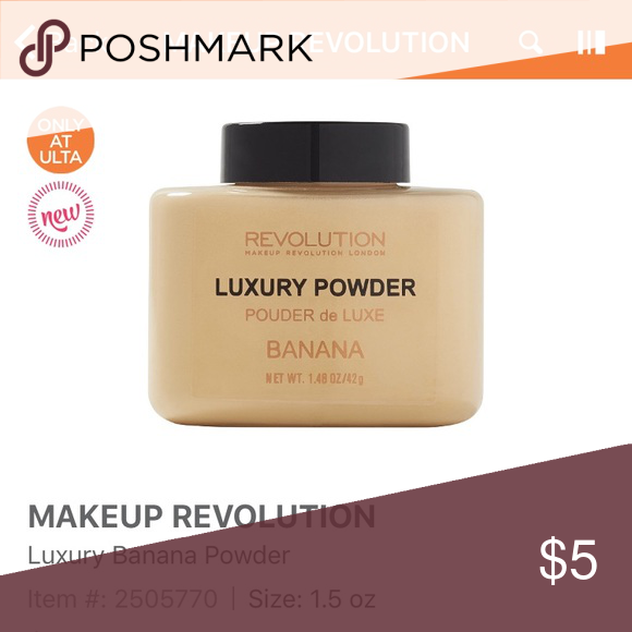 Makeup revolution banana powder Tried once, basically