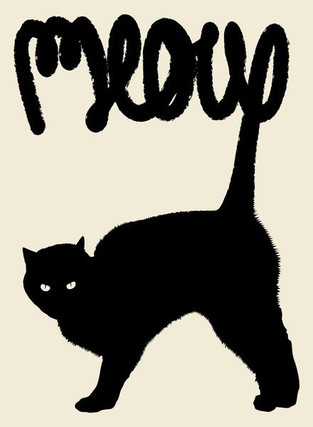 Meow Stretched Canvas by Speakerine | Society6
