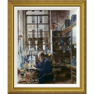 Global Gallery 'Laboratory of Thos Price' by Henry Alexander Framed Painting Print