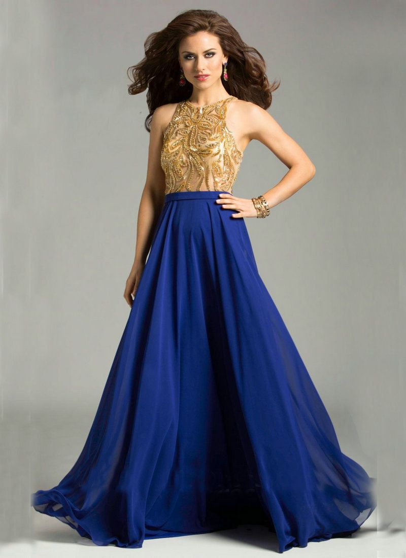 Bridesmaid Dresses In Royal Blue Gold